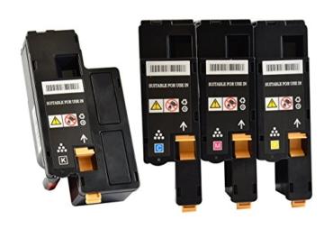 4 Toner-Kartuschen kompatibel für Dell C1660 SET Multipack - Schwarz - Rot - Blau - Gelb -
