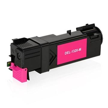 4 Toner kompatibel zu Dell 1320c 1320cn - Schwarz 2.000 Seiten, Color je 2.000 Seiten -