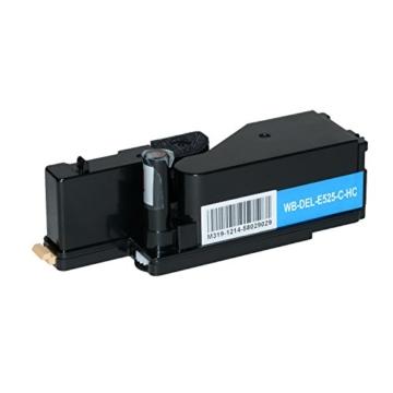 4 Toner kompatibel zu Dell E525w LED-Farblaser-Multifunktionsdrucker- Schwarz 2.000 Seiten, Color je 1.400 Seiten -