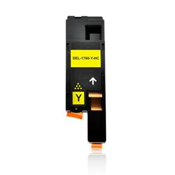 5 Toner kompatibel zu Dell C1760nw, 1250c, C1765nfw, C1700 Series, 1350cnw, 1355cnw - Schwarz je 2.000 Seiten, Color je 1.400 Seiten -