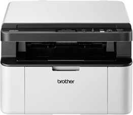 Brother DCP-1610W Kompaktes 3-in-1 Monolaser-Multifunktionsgerät (Drucker, Kopierer, scanner, 2400 x 600 dpi, USB 2.0, WLAN) weiß/dunkelgrau -