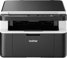 Brother DCP-1612W Kompaktes 3-in-1 Multifunktionsgerät (Laserdrucker, digitaler Kopierer, Farbscanner, 2.400 x 600 dpi, USB 2.0, WLAN) dunkelgrau -