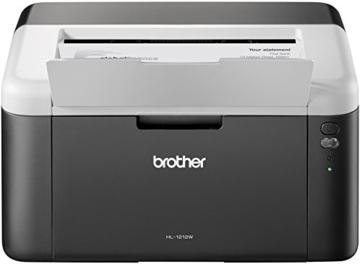 Brother HL-1212W Kompakter S/W-Laserdrucker weiß/dunkelgrau -