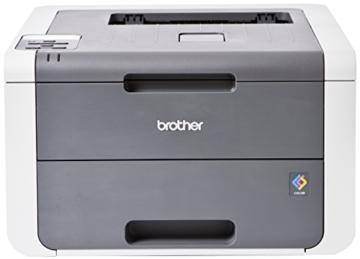 Brother HL-3140CW Farblaserdrucker (USB 2.0, WLAN) grau/weiß -