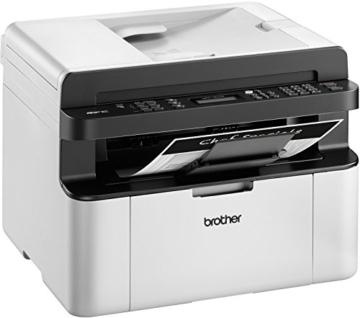 Brother MFC-1910W Kompaktes 4-in-1 Monolaser-Multifunktionsgerät (Drucken, scannen, kopieren, faxen) grau/weiß -