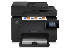 HP Color LaserJet Pro M177fw Farblaserdrucker Multifunktionsgerät (Drucker, Dcanner, Kopierer, Fax, WLAN, LAN, HP ePrint, Airprint, USB, 600 x 600 dpi) schwarz -