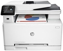 HP Color LaserJet Pro M274n Farblaserdrucker Multifunktionsgerät (Drucker, Scanner, Kopierer, LAN, HP ePrint, Apple Airprint, USB, 600 x 600 dpi) weiß -