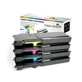 Komplett-Set Kompatibel Colour Direct Toner Patronen Ersatz für Dell C2660dn C2665dn C2665dnf Drucker 6K Seiten Schwarz, 4K Seiten Colours - 1
