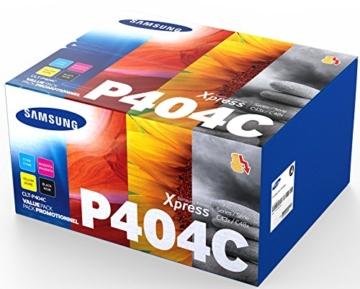 Samsung CLT-P404C/ELS Original Toner - Value Pack (C/M/Y/K, Kompatibel mit: SL-C430 C430W C480 C480W C480FN C480FW) -