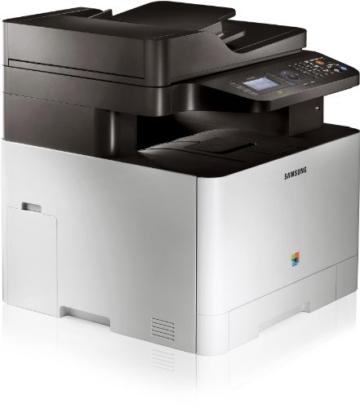 Samsung CLX-4195FN/TEG Farblaser-Multifunktionsgerät (Drucken, Scannen, Kopieren, Faxen, 9.600 x 600 dpi, 256 MB Speicher, 533 MHz Prozessor) -