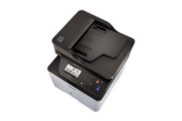 Samsung Xpress C1860FW/XEC Farblaser-Multifunktionsgerät (Drucken, Scannen, Kopieren, Faxen, 9.600 x 600 dpi, 256 MB Speicher, 533 MHz Prozessor) -