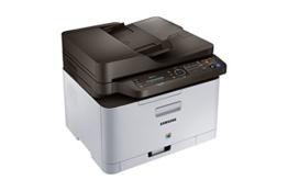 Samsung Xpress C480FN/TEG Farblaser-Multifunktionsgerät (Drucken, Scannen, Kopieren, Faxen, 2.400 x 600 dpi, 128 MB Speicher, 800 MHz Prozessor) grau/schwarz -