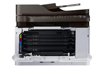 Samsung Xpress C480FW/TEG Farblaser-Multifunktionsgerät (Drucken, Scannen, Kopieren, Faxen, 2.400 x 600 dpi, 128 MB Speicher, 800 MHz Prozessor) grau/schwarz -